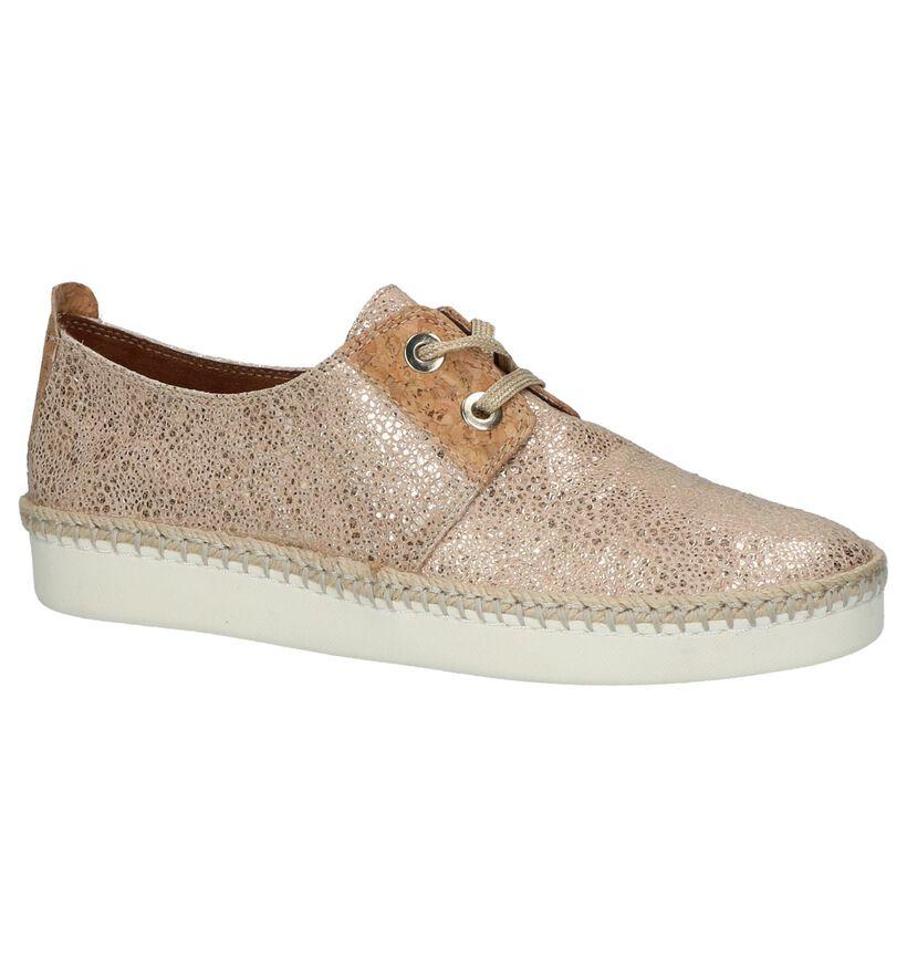 Lage Geklede Sneakers Roze Tamaris in leer (214194)