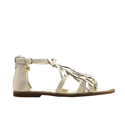 Licht Beige Sandalen Metallic Little David Moran in leer (195875)