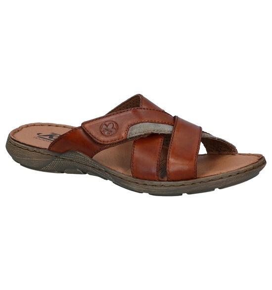 Rieker Cognac Slippers