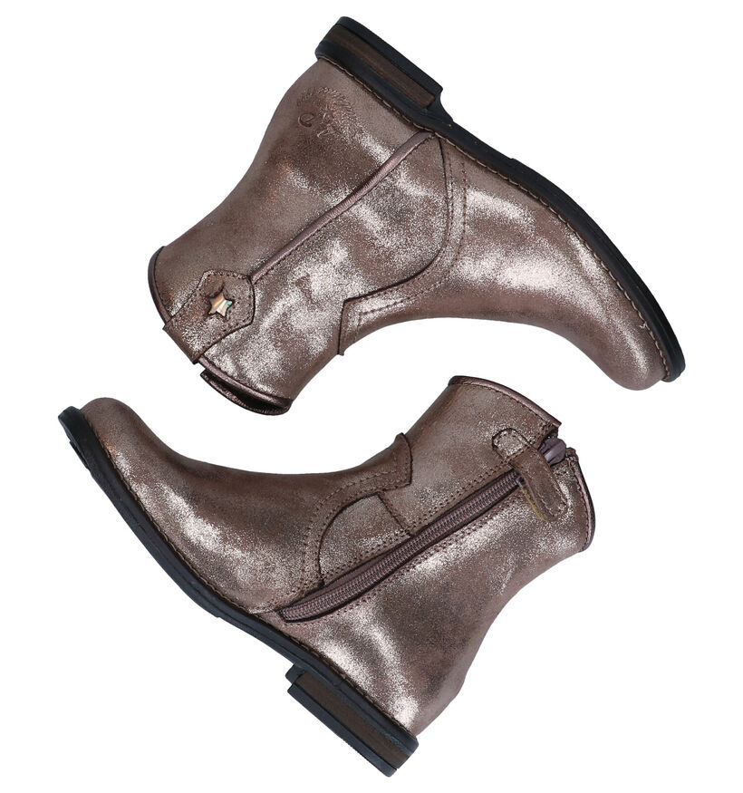 Little David Zekoia Bronzen Boots in kunstleer (282863)