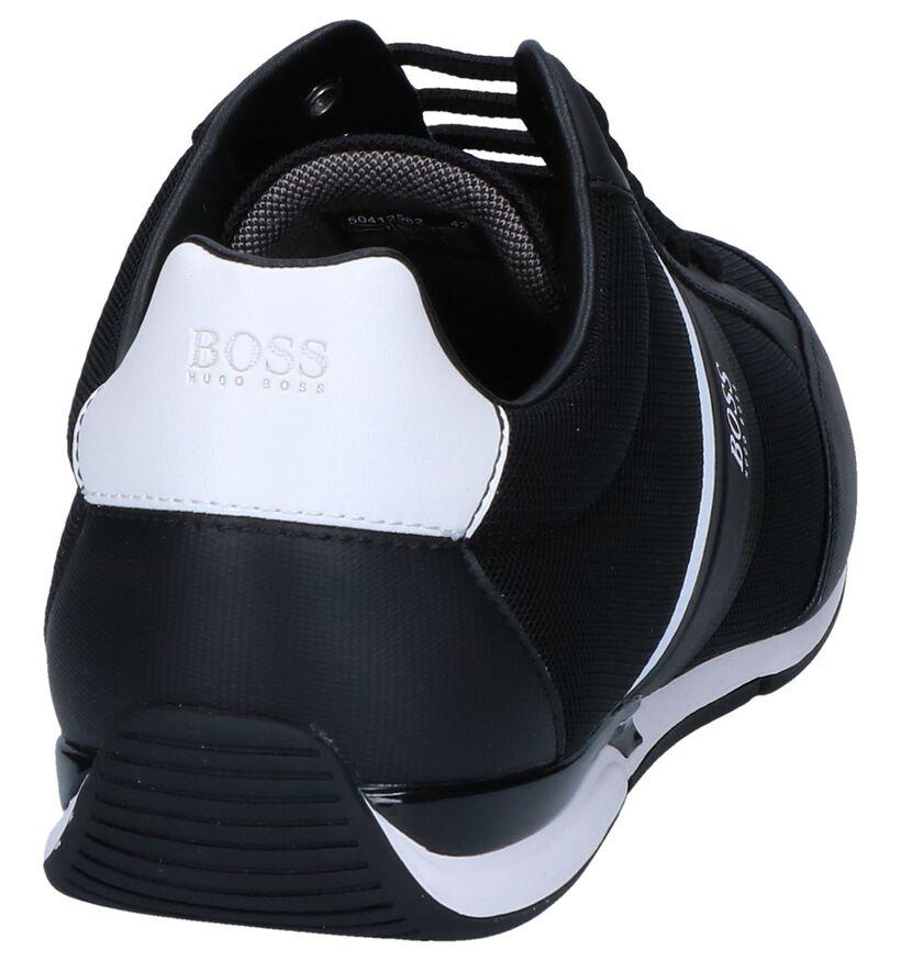 Hugo Boss Saturn Low Zwarte Casual Schoenen in kunstleer (251598)
