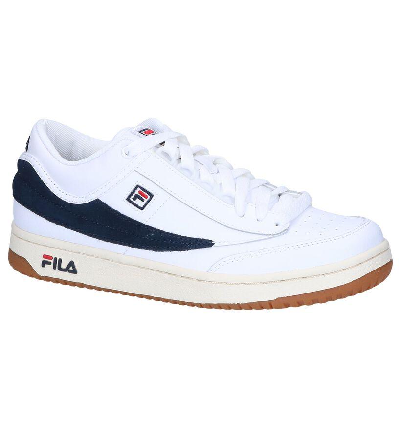 Fila T1 Witte Lage Sneakers in daim (240885)