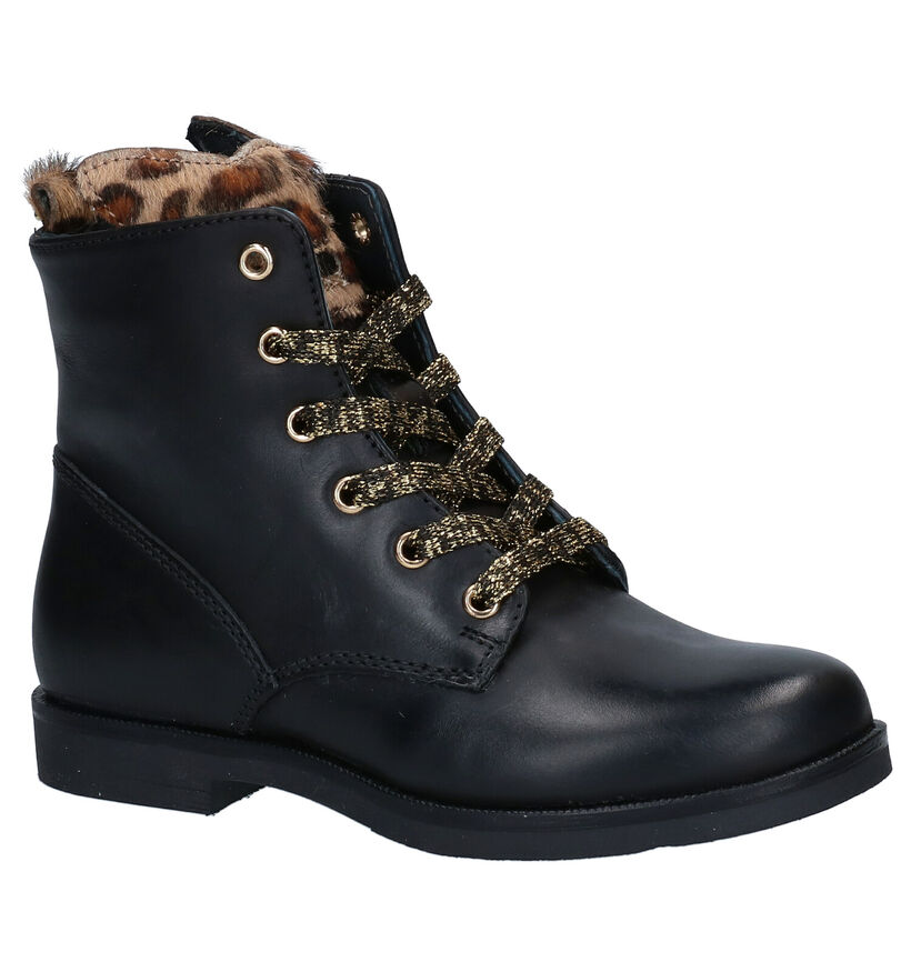 STONES and BONES Caste Blauwe Boots in nubuck (279298)