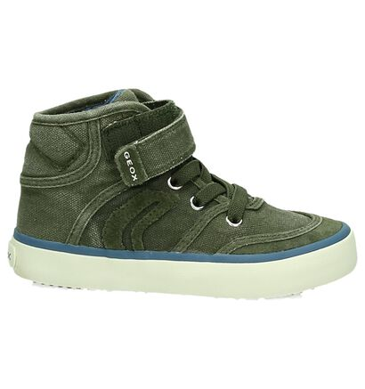 Geox Blauwe Hoge Sneaker, Groen, pdp