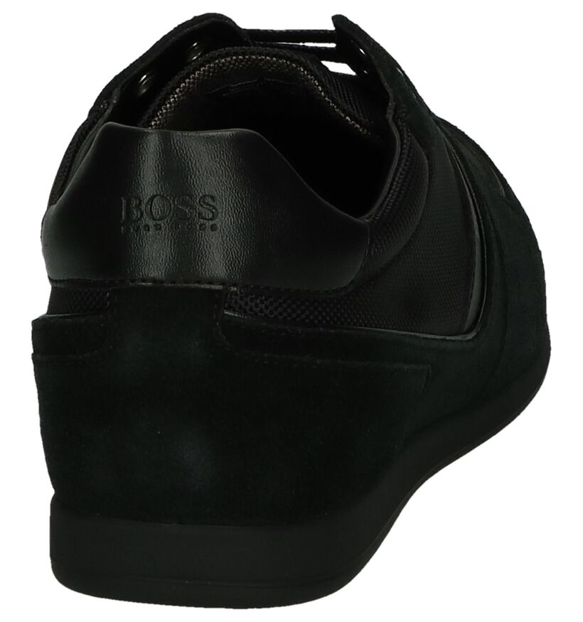 Zwarte Lage Schoen Glaze Low Hugo Boss in stof (240854)