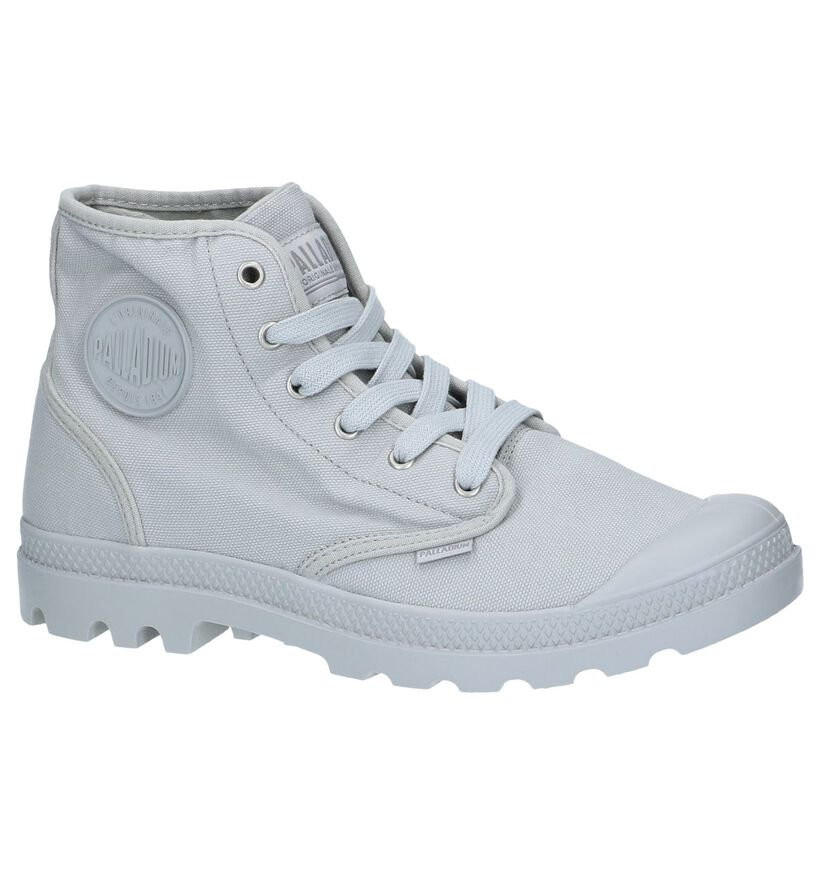 Lichtgrijze Boots Palladium Pampa Hi in stof (244069)