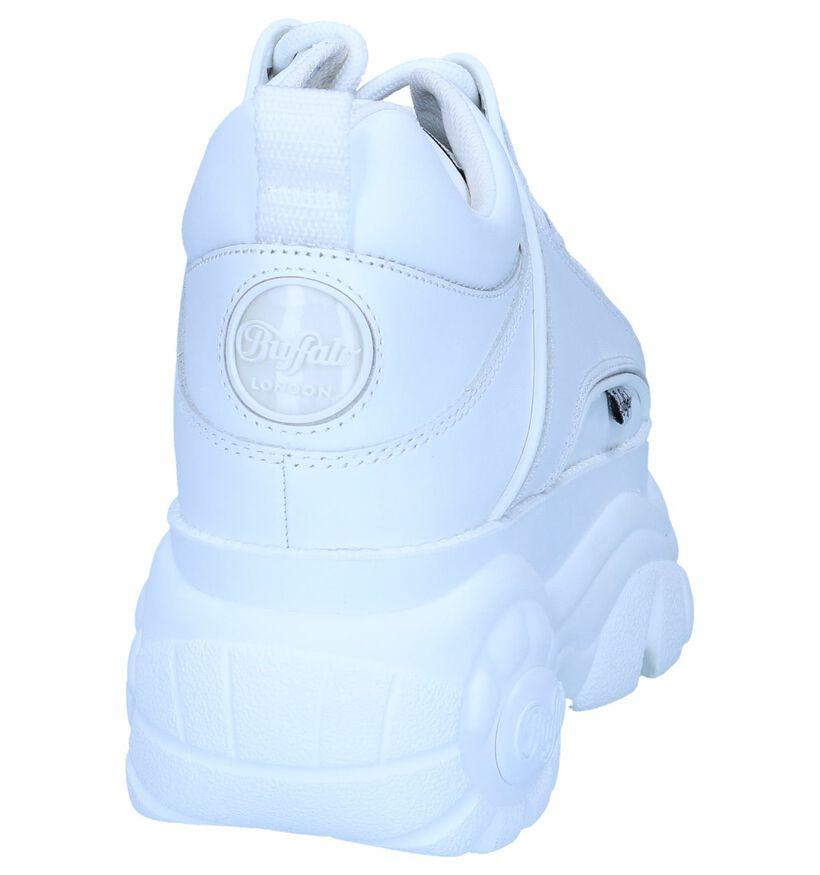 Witte Sneakers Buffalo London Classic Low in leer (240558)
