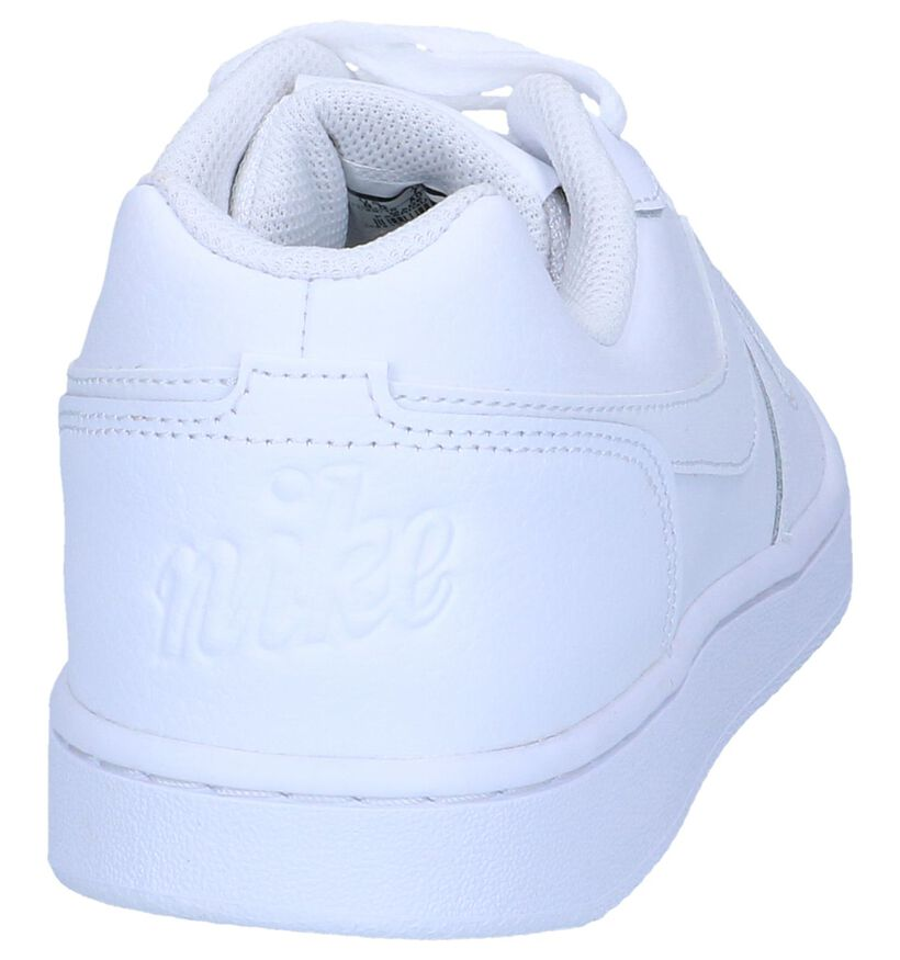 Witte Sneakers Nike Ebernon Low in kunstleer (250340)