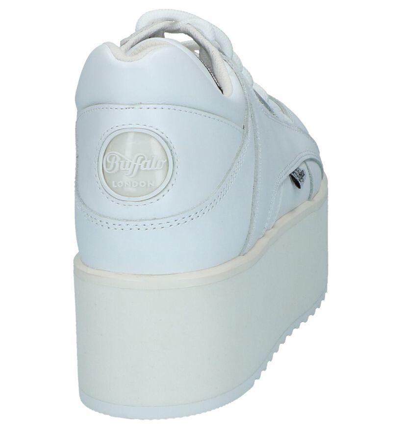 Witte Sneakers Buffalo London Rising Towers in leer (240567)
