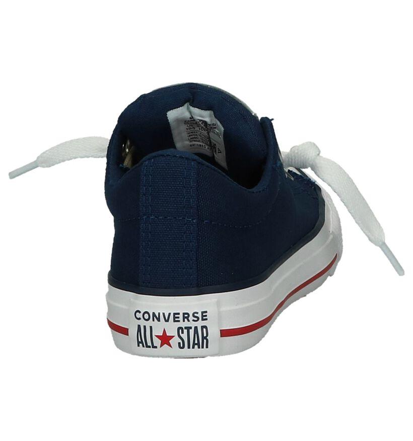 Donkerblauwe Sneakers Converse Chuck Taylor AS Street Slip in stof (238420)