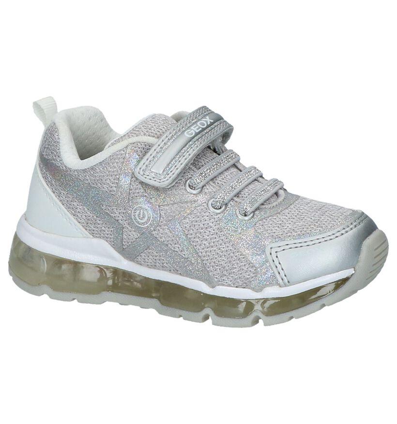 Zilveren Schoenen met Klittenband Geox in kunstleer (210490)
