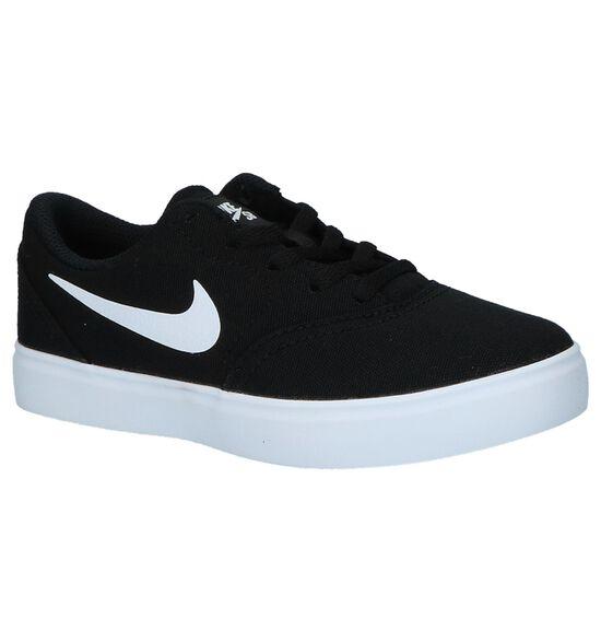 Zwarte Skateschoenen Nike SB Check Canvas