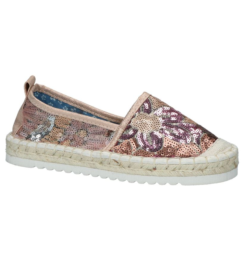 Youh! by Torfs Rose Gold Espadrilles in stof (212133)