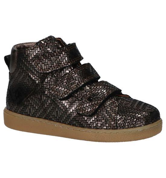 Bisgaard Bronzen Boots met Klittenband
