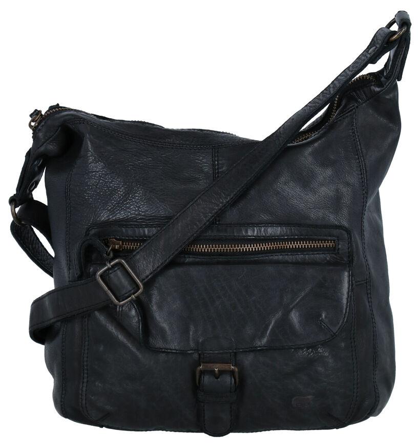 Bear Design Zwarte Crossbody Tas in leer (284275)