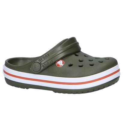 Blauwe Slippers Crocs Crocband, Groen, pdp