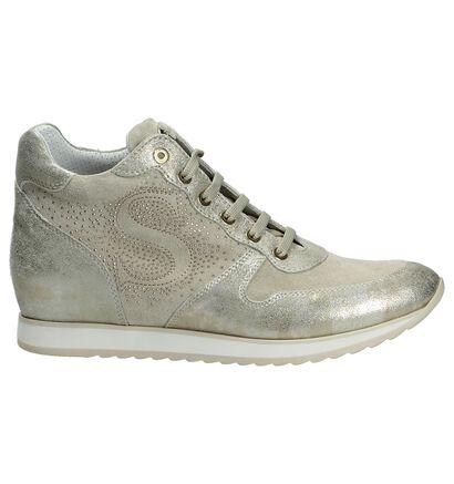 Scapa Gouden Sneaker met Sleehak, Goud, pdp