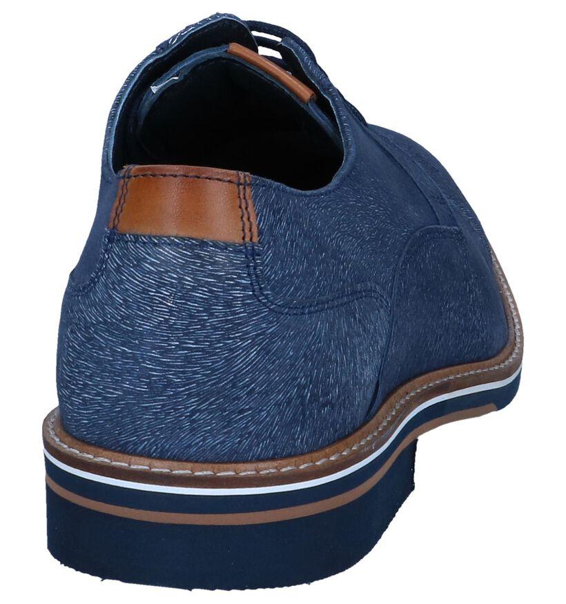Donkerblauwe Nette Schoenen Chaos in nubuck (239270)