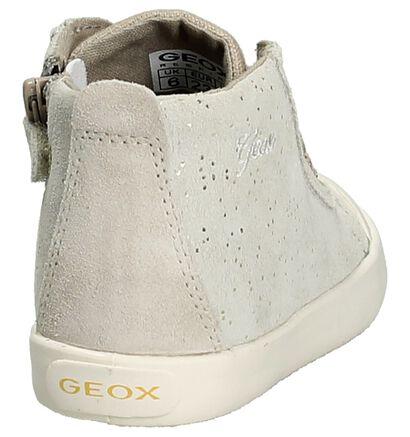 Geox Licht Beige Rits/Veter Boots in nubuck (190680)
