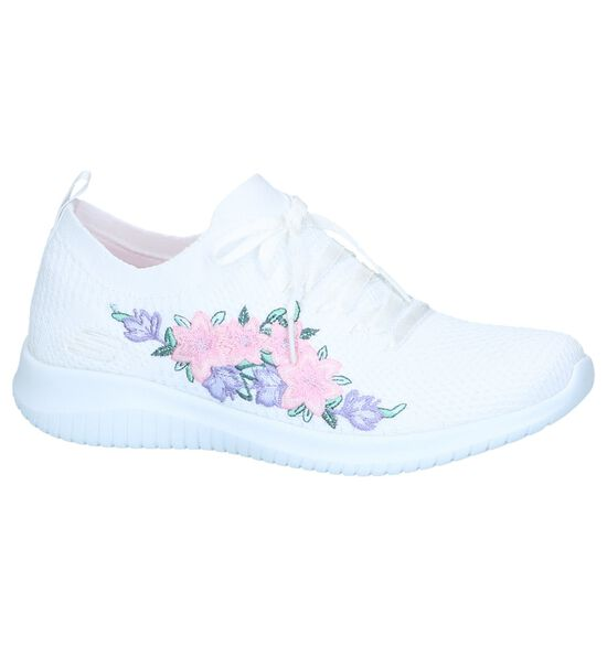Witte Slip-on Sneakers Skechers Ultra Flex