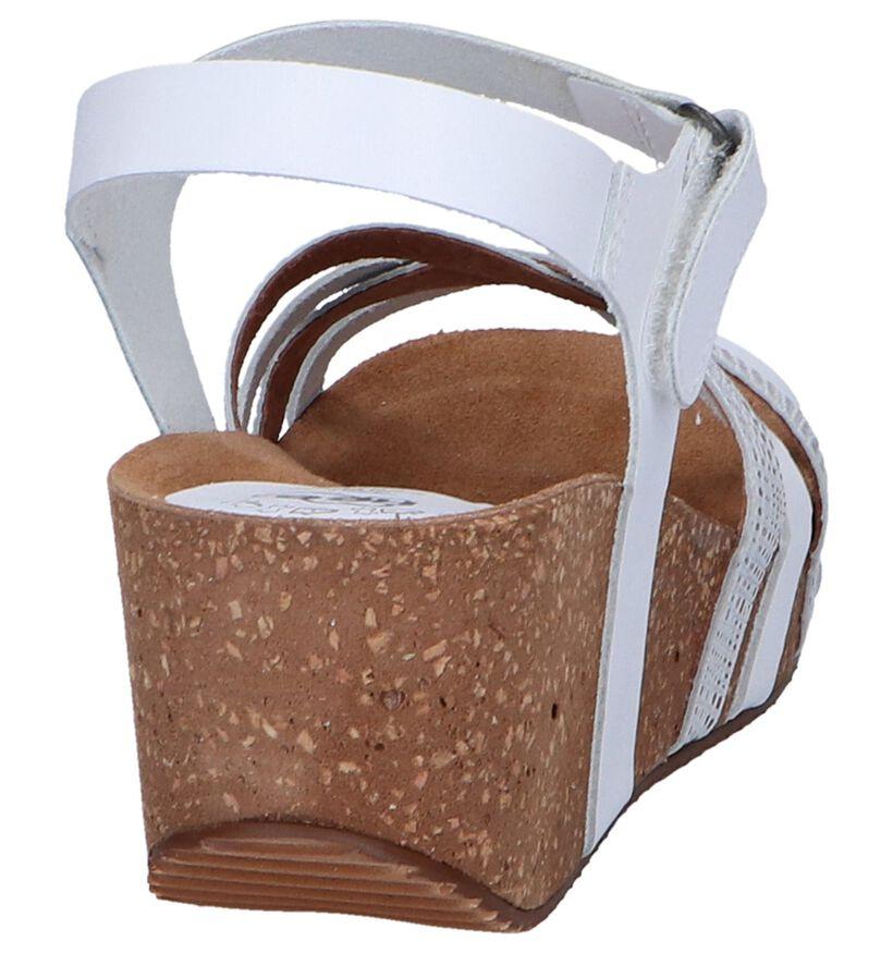 Witte Sandalen Hee in leer (244433)