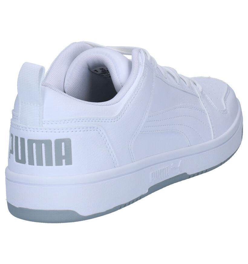 Puma Rebound Layup Witte Sneakers in kunstleer (252598)