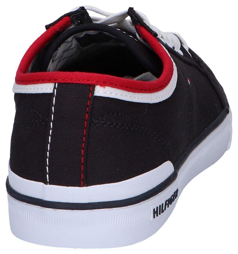 Zwarte Sneakers Tommy Hilfiger Core Corporate in stof (242304)