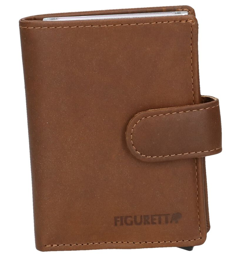 Cognac Kaartenhouder Euro-Leather in leer (250638)