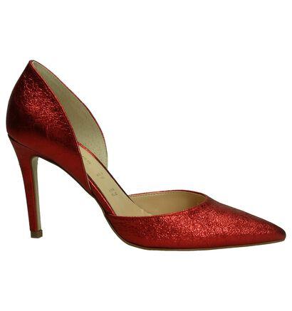 Les Autres Rode High Heels Pumps in leer (195915)