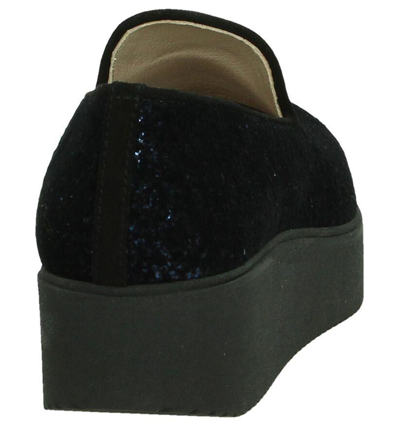 Unisa Caldo Blauwe Instappers in stof (186220)