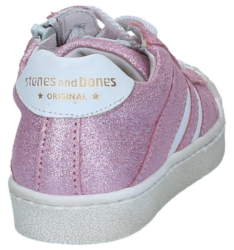 Roze Lage Schoenen STONES and BONES in leer (239866)