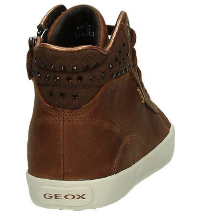 Geox Cognac Hoge Sneakers, Cognac, pdp