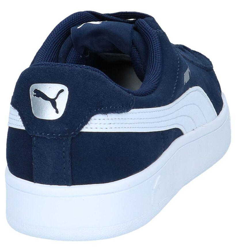 Zwarte Sneakers Puma Court Breaker Derby in daim (239356)