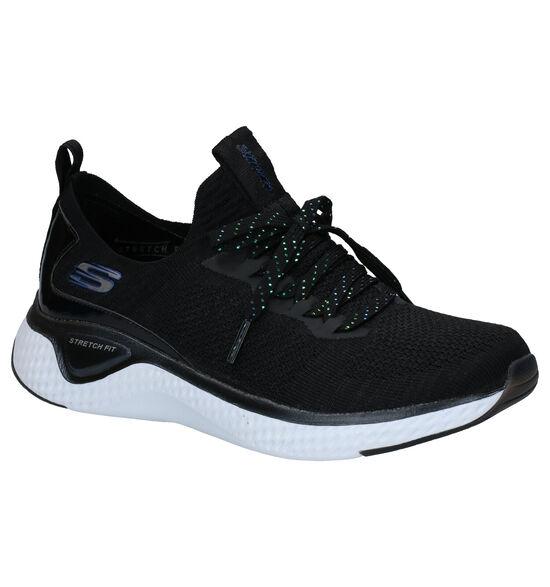 Skechers Solar Fuse Gravity Experience Zwarte Slip-on Sneakers