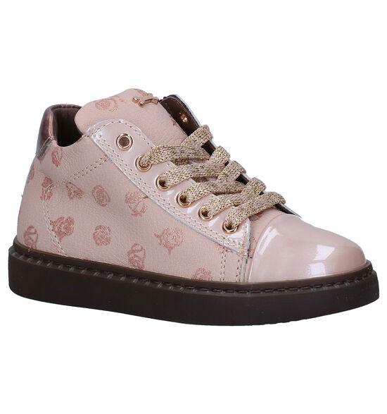 STONES and BONES Unica Roze Hoge Schoenen