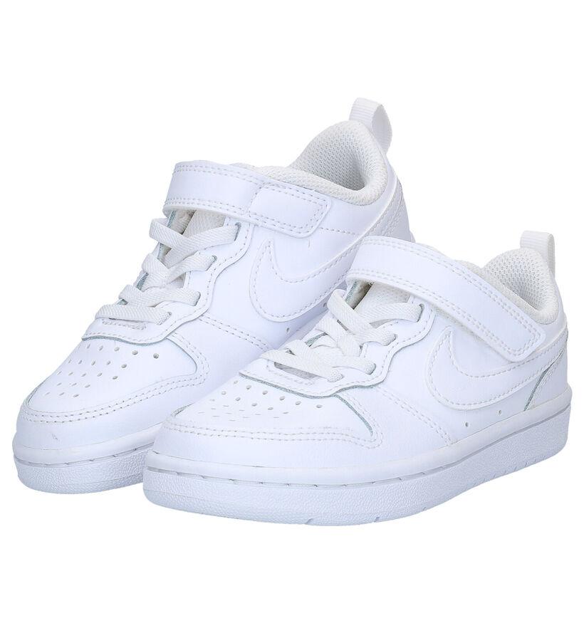 Nike Court Borough Witte Sneakers in kunstleer (283704)