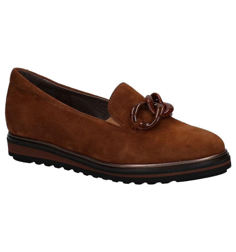 Softwaves Cognac Loafers in daim (281981)