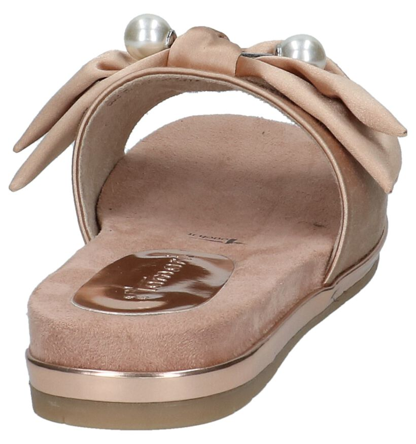 Tamaris Touch it Roze Slippers in stof (214270)