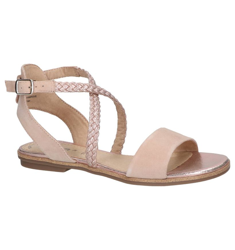 Rose Golden Sandalen s. Oliver in daim (242490)
