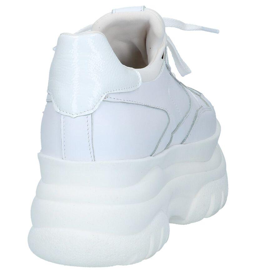 Poelman Witte Lage Geklede Sneakers in leer (229911)