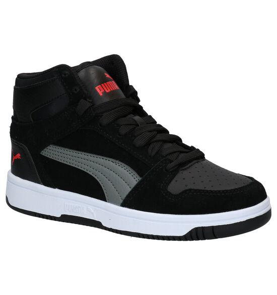 Puma Rebound Layup Zwarte Sneakers