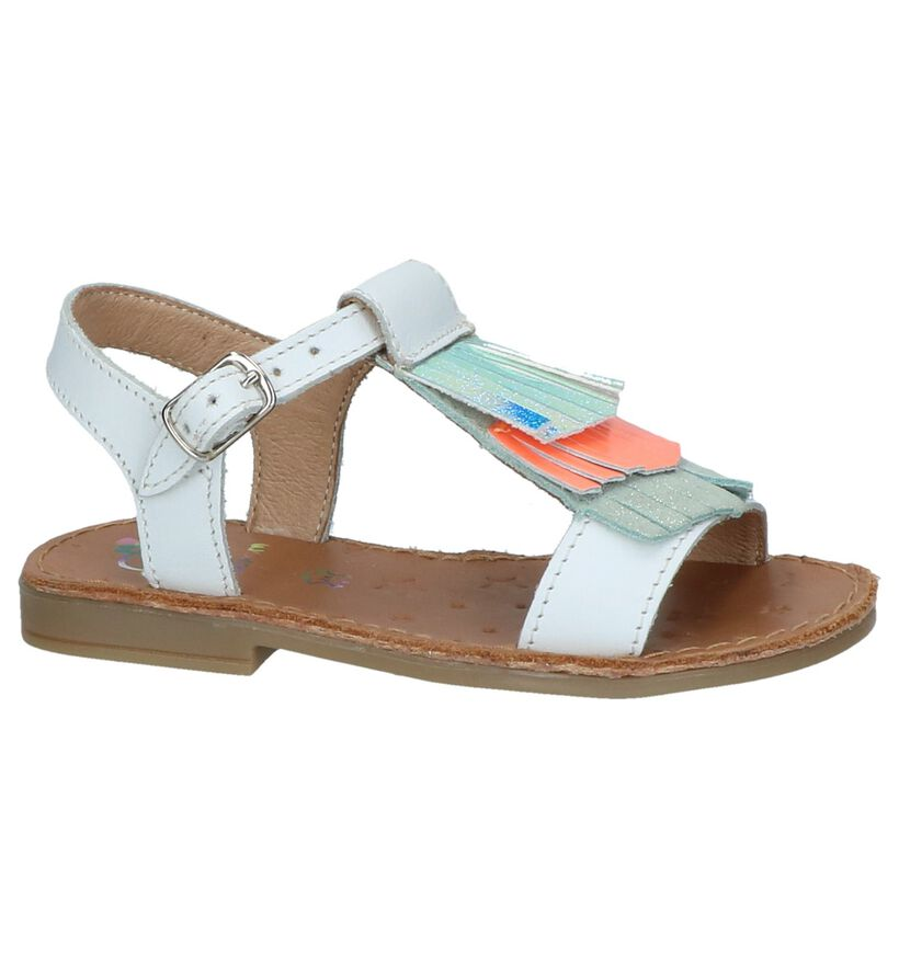 Witte Sandalen Shoo Pom in leer (242886)