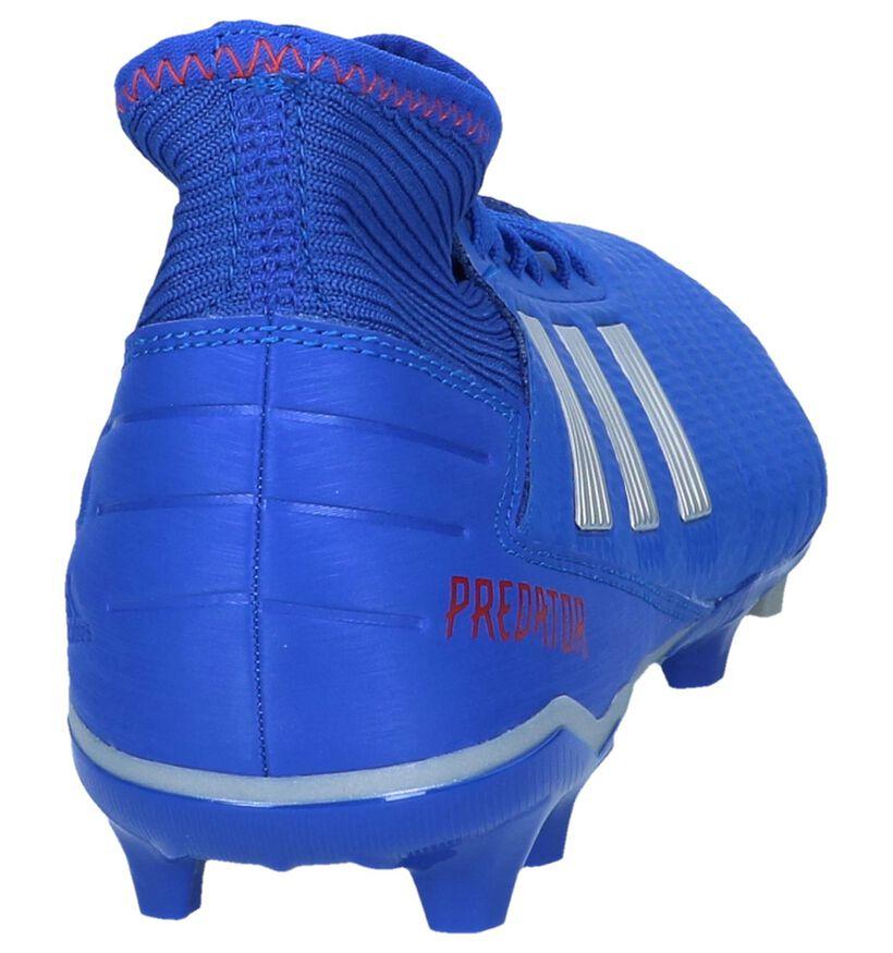 Blauwe Voetbalschoenen adidas Predator 19.3 FG in kunstleer (237619)