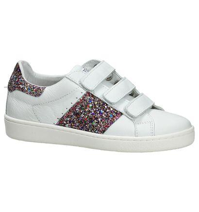 Cks Comira Witte Sneakers met Klittenband in leer (195831)