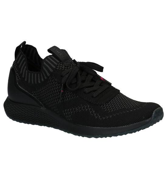 Tamaris Fashletics Zwarte Slip-on Sneakers