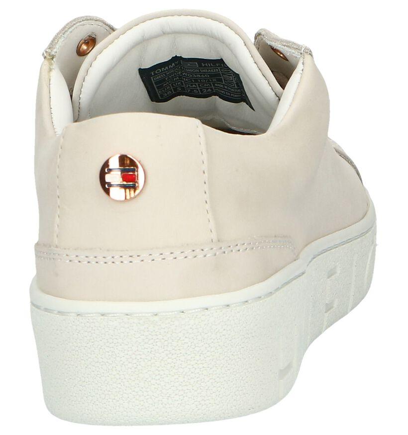 Beige Sneakers Tommy Hilfiger in leer (241745)