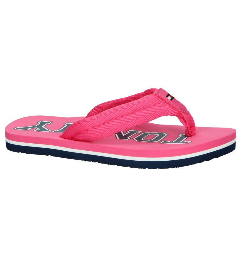 Roze Slippers Tommy Hilfiger in stof (239571)