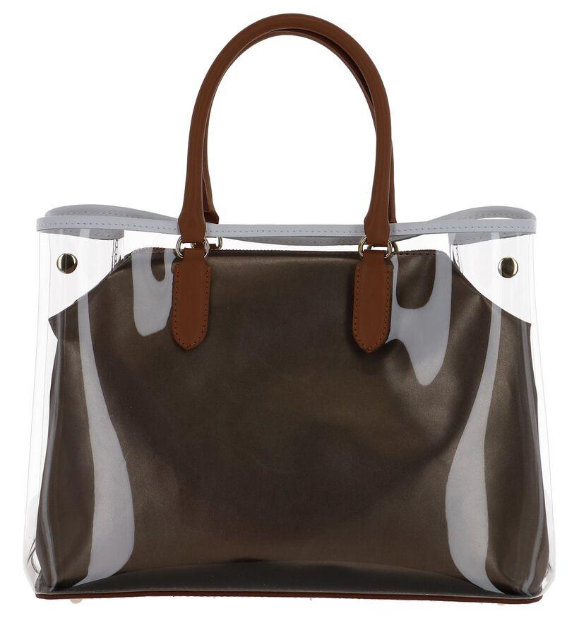 Bronzen Handtas My Best Bag met Cognac Handvatten in kunststof (241443)