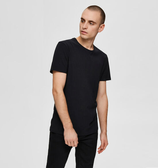 Selected Homme 3 Pack Zwarte T-shirts