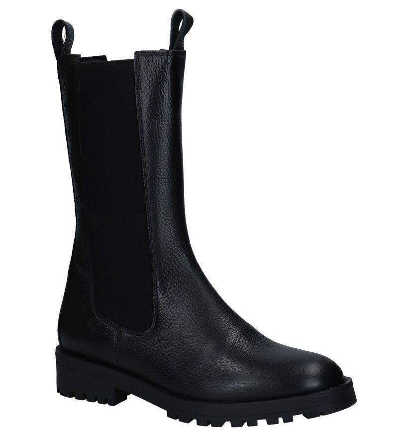March23 Zwarte Korte Laarzen in leer (283276)